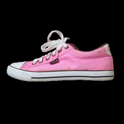 40-es rózsaszín vászoncipő, tornacipő