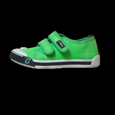 29-es zöld vászoncipő, tornacipő