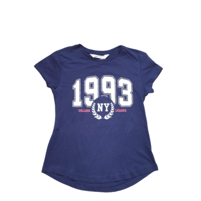 134-140-es kék számos póló - H&M