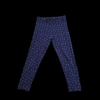 122-128-as kék horgonyos leggings