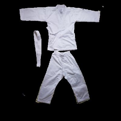 134-es fehér karate, judo ruha, övvel - Decathlon