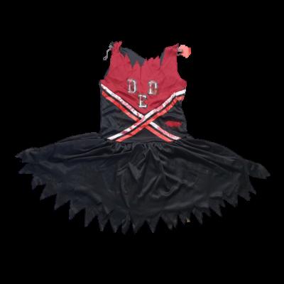 7-9 évesre véres szurkolólány Halloween jelmezruha (hibás)