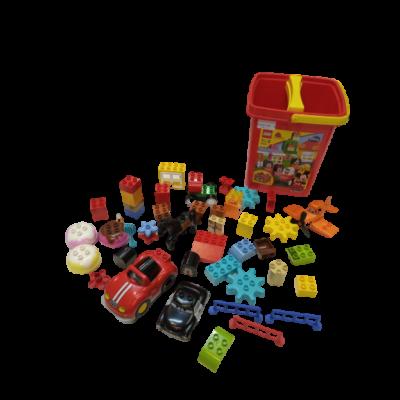 Piros vödrös Lego Duplo csomag