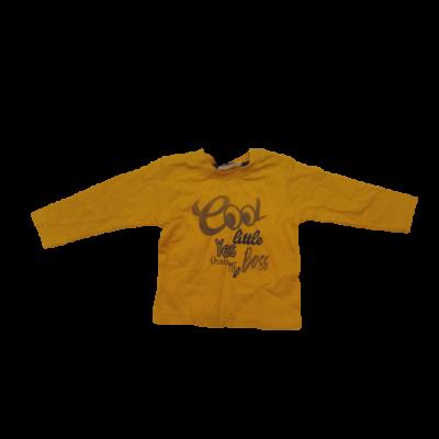 74-es mustársárga feliratos pamutfelső - Ergee - ÚJ