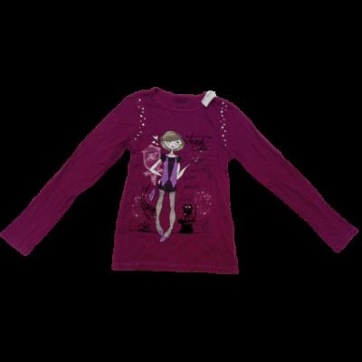158-as mályvaszínű lányos pamutfelső - C&A