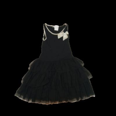 164-es fekete tüll szoknyás alkalmi ujjatlan ruha - Marks & Spencer
