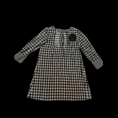 152-es fekete-fehér kockás ruha - Zara