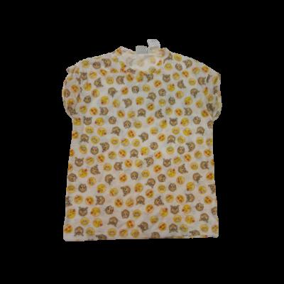 164-es fehér alapon emoji mintás póló