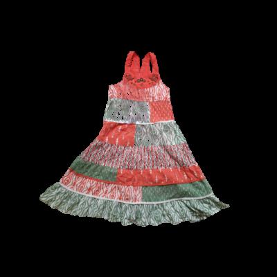 110-es zöld-piros mintás ujjatlan ruha - George