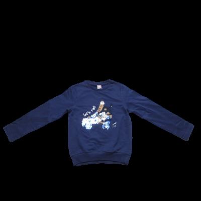 128-as kék görkoris átfordítós flitteres pulóver