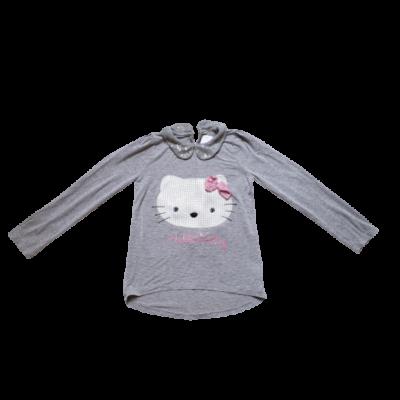 128-as szürke flitteres pamutfelső - Hello Kitty