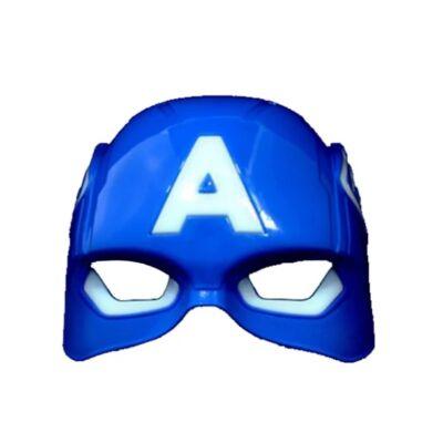 Amerika kapitány műanyag álarc, maszk, világítós(ledes) - Captain America - ÚJ
