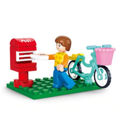 Postás biciklivel - 29 db-os építőjáték - ÚJ
