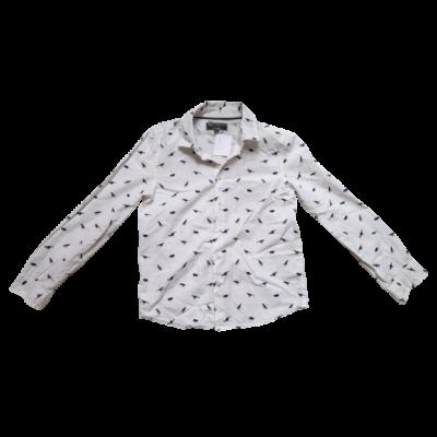 128-as fehér dínós hosszú ujjú ing - H&M