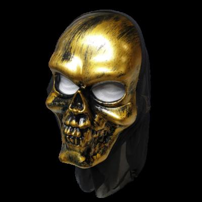 Arany koponya, halál, halloween maszk - ÚJ