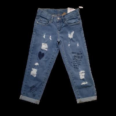122-es kék lány szaggatott farmernadrág - Y.F.K. - ÚJ