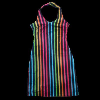 Női XS-es fekete alapon színes csíkos ruha - Orsay