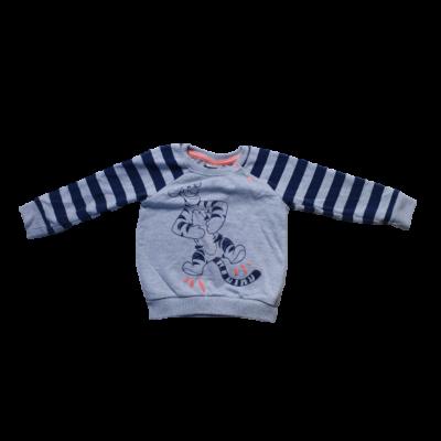 80-as szürke-kék pulóver - Tigris - Micimackó