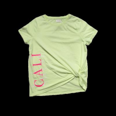 122-128-as zöld feliratos lány póló - F&F