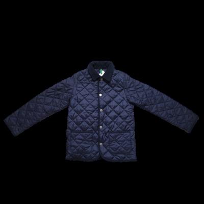 128-as kék steppelt kabát - Benetton