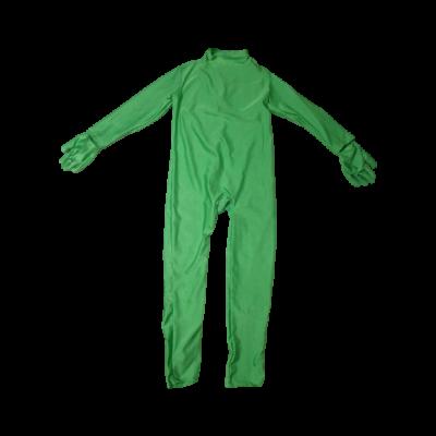 10-12 évesre zöld kezeslábas jelmezoverall, második bőr, Morphsuit - ÚJ