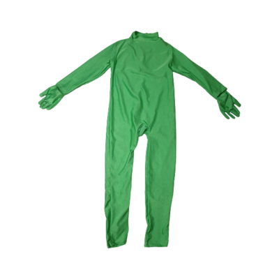 7-9 évesre zöld kezeslábas jelmezoverall, második bőr, Morphsuit - ÚJ