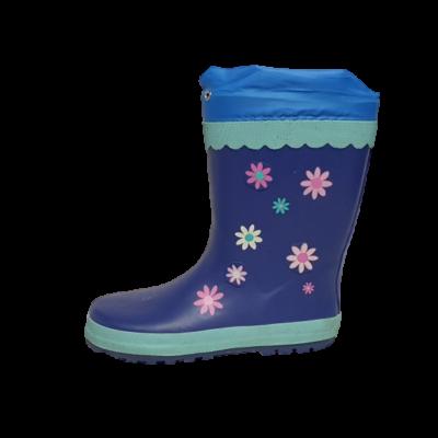 34-es kék virágos gumicsizma