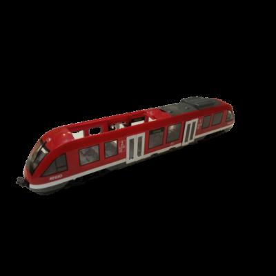 42 cm piros vonat, ajtaja csukható