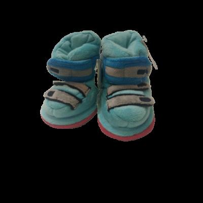 0-6 hónaposra kék bélelt plüss kocsicipő - ÚJ