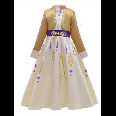152-es arany hercegnőruha, jelmez - Frozen, Jégvarázs - ÚJ