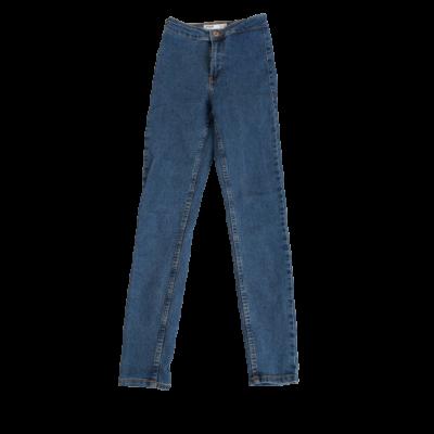Női 32-es ( XXS-es) kék magasderekú farmernadrág - Bershka