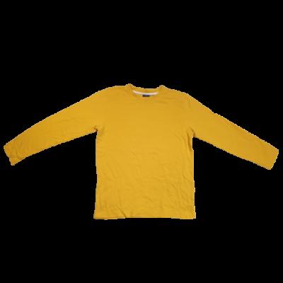 146-152-es mustársárga pamutfelső póló - Dognose