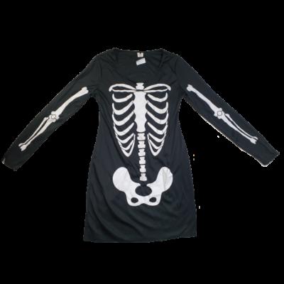 164-es fekete csontvázas jelmezruha - Halloween