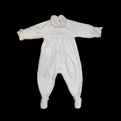 86-os fehér plüss hosszú ujjú rugi - Catimini