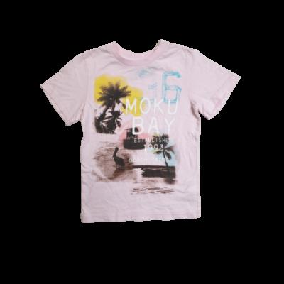 110-116-os rózsaszín pálmafás fiú póló - H&M