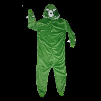 M-es zöld szőrmés jelmez vagy háziruha - ÚJ