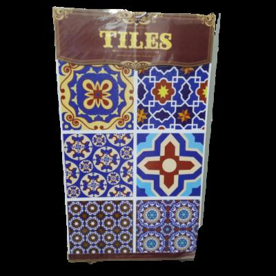 Barna-kék marokkói mintás csempe matrica - ÚJ