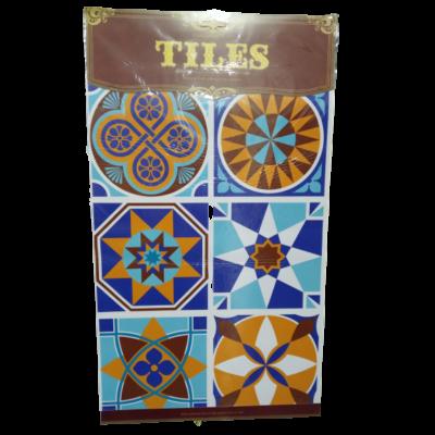 Kék-barna marokkói mintás csempe matrica - ÚJ