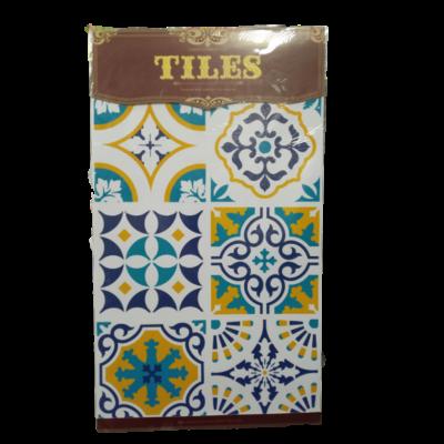 Kék-sárga marokkói mintás csempe matrica - ÚJ