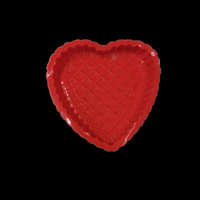 Piros szilikon szív alakú tortaforma - ÚJ