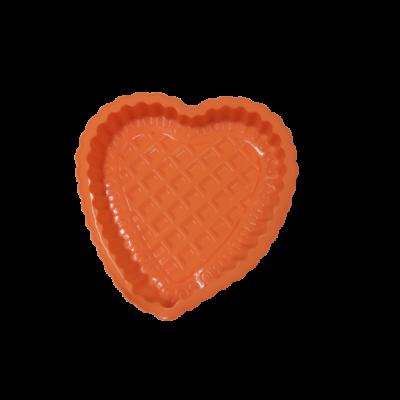 Narancssárga szilikon szív alakú tortaforma - ÚJ