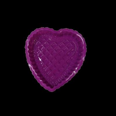 Lila szilikon szív alakú tortaforma - ÚJ