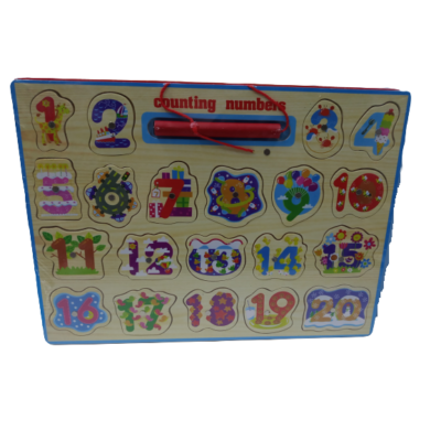 Számos kirakó, puzzle, mágneses fa horgászós játék - ÚJ
