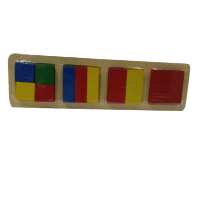 Fa kirakó, oktató játék (négyzet) - ÚJ