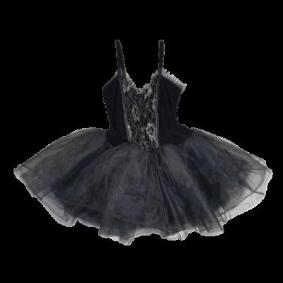 Felnőttre fekete pántos tüllös jelmezruha