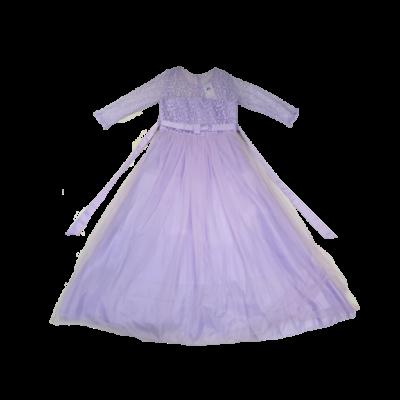 14 évesre lila csipkés jelmezruha, báliruha - ÚJ