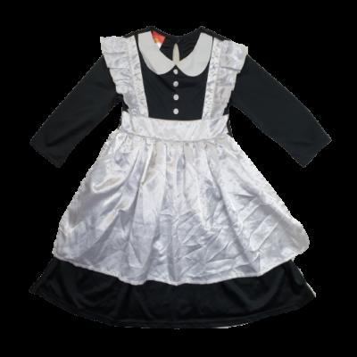 3-4 évesre fekete-fehér szobalány jelmezruha