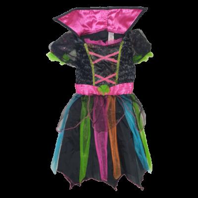 2-3 évesre fekete-pink tüllös pókhálós jelmezruha - Halloween