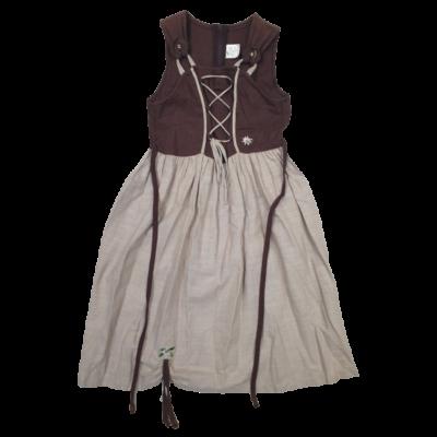 140-es barna-drapp ujjatlan vászon jelmezruha