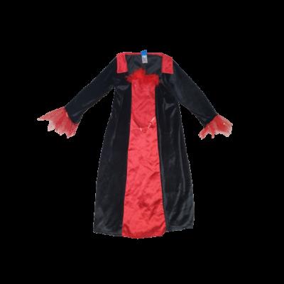 3-4 évesre piros-fekete plüss jelmezruha - Halloween